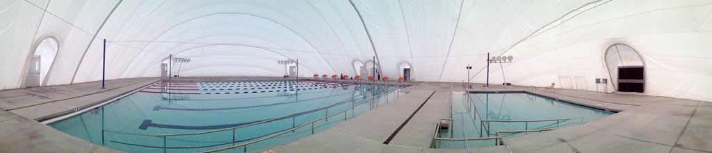 Panoramic view of the wellness and competition lap pool