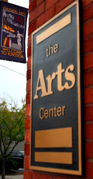 A sign for the Kinston Art Center.
